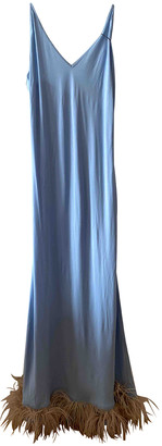Sleeper Turquoise Synthetic Dresses