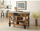 ACME Furniture Kailey 48 in. W Distress Oak Kitchen Cart