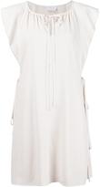 Chloé Ruffled Sleeveless Dress - Vanilla