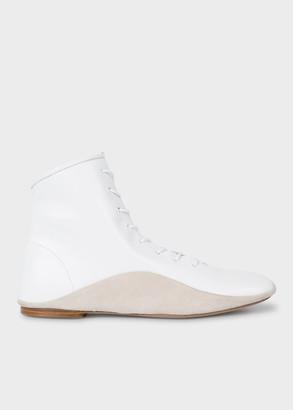 Paul Smith Women's White Leather 'Milton' Boots