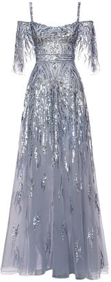 ZUHAIR MURAD Sequined Maxi Dress