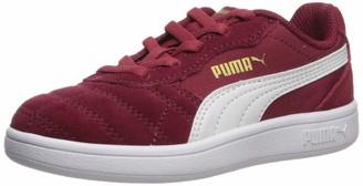 Puma Kids' Astro Kick Slip On Sneaker Rhubarb White Team Gold 13.5 M US Little Kid