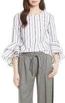 Milly Women's Gabby Stripe Bell Sleeve Top