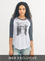 Junk Food Clothing Lost In Wonderland Tee Raglan-ew/jb-m