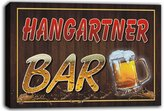 AdvPro Canvas scw3-049708 HANGARTNER Name Home Bar Pub Beer Mugs Stretched Canvas Print Sign