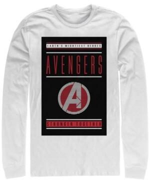 Marvel Men's Avengers Endgame Stronger Together, Long Sleeve T-shirt