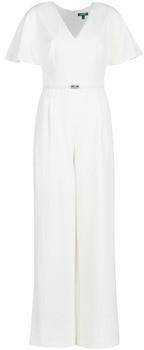 Lauren Ralph Lauren WHITE-SHORT SLEEVE-JUMPSUIT women's Jumpsuit in White