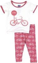 Kickee Pants Print Pajama Set (Baby) - Flamingo Bike-Preemie