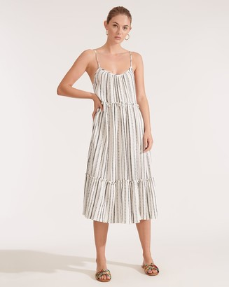 Veronica Beard Ayesha Striped Cover-Up Dress