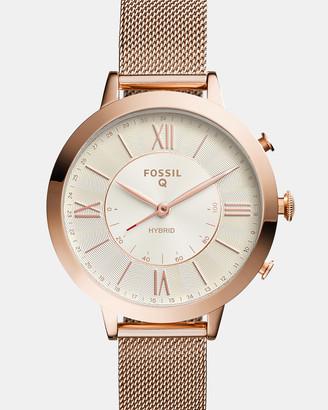 Fossil Q Jacqueline Rose Gold-Tone Hybrid Smartwatch