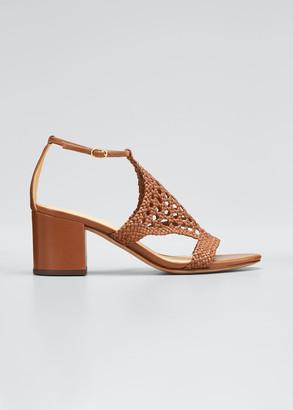 Alexandre Birman 60mm Cadie Woven Leather Sandals