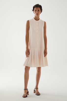 Cos Cotton Pleated Panel Dress