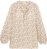 Vanessa Bruno Floral-print Silk Crepe De Chine Blouse - Off-white