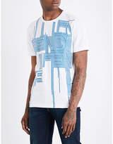 Fendi Logo-print Cotton-jersey T-shirt
