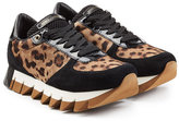 Dolce & Gabbana Animal Print Platform Sneakers with Suede