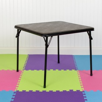 Flash Furniture Kids Black Folding Table
