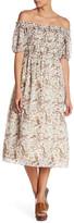 Max Studio Floral Print Smocked Dress