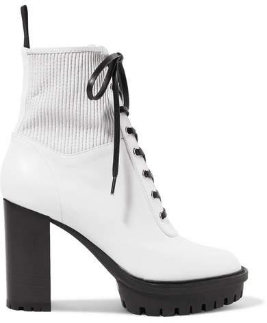 097b75c1a05f5 Women Lace Up White Boots - ShopStyle