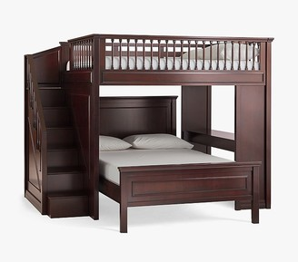 Pottery Barn Kids Fillmore Stair Loft Bed & Lower Bed Set