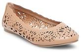 Women's Darlene Wide Width Laser Cut Round Toe Ballet Flats - Mossimo Supply Co.