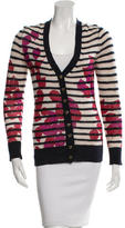 Tory Burch Long Sleeve Patterned Cardigan