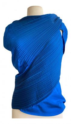Issey Miyake Blue Silk Top for Women Vintage