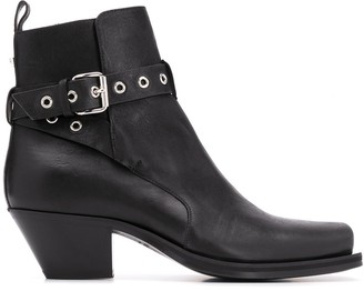 Versace Wrap-Around Strap Ankle Boots