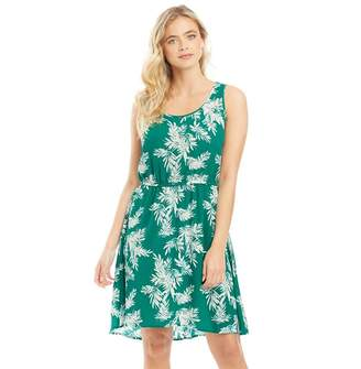 Only Womens Nova All Over Print Lux Sara Dress Cadmium Green/Summer Palm