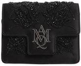 Alexander McQueen Insignia Beaded Silk Satin Clutch