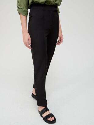 Very Long Straight Leg Trousers - Black