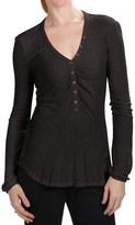True Grit Dylan by Lurex® Vintage Henley Shirt - Long Sleeve (For Women)