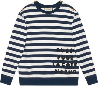 Gucci Cotton sweatshirt with patch