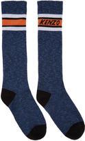 Kenzo Blue Logo Stripe Socks