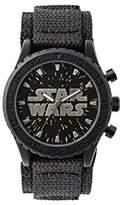 Star Wars Boy's Quartz Watch with Black Dial Analogue Display and Black Nylon Strap STW1301