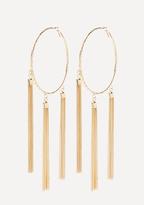 Bebe Tassel Hoop Earrings