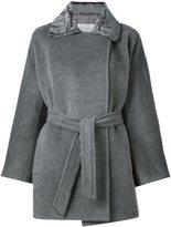 Max Mara bell sleeves belted coat - women - Alpaca/Virgin Wool/Acetate/Polyester - 44