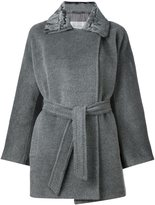Max Mara bell sleeves belted coat - women - Polyester/Acetate/Cupro/Virgin Wool - 44