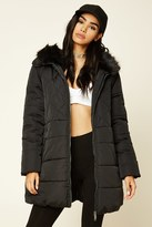 Forever 21 FOREVER 21+ Quilted Hooded Puffer Jacket