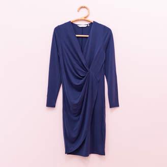 Nümph Knit Dress With Frontal Knot - xs   navy - Navy
