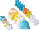 Gerber Unisex-Baby Newborn Ducks 15 Piece Socks Caps and Mittens Essential Set