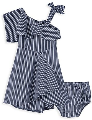 Habitual Baby Girl's 2-Piece Asymmetrical Dress & Bloomers Set