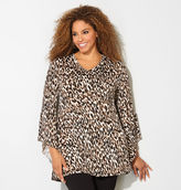 Avenue Cheetah Bell Sleeve Tunic Top