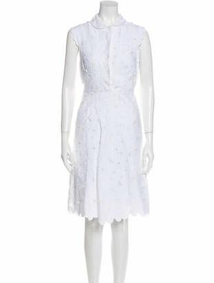 Valentino Lace Pattern Knee-Length Dress White
