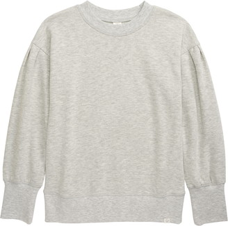 Treasure & Bond Kids' Gathered Sleeve Cotton Blend Sweatshirt
