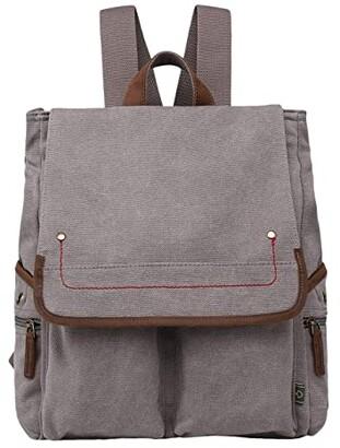 TSD BRAND Atona Canvas Backpack (Grey) Backpack Bags