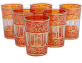 Found Object S/6 Lalla Moroccan Glasses, Orange