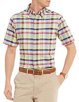 Daniel Cremieux Plaid Oxford Short-Sleeve Pocket Woven Shirt