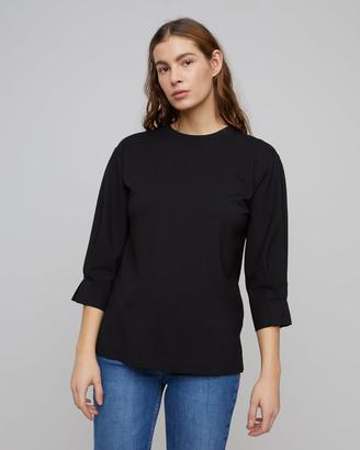 Jigsaw Ponte Pleated Cuff Sweatshirt