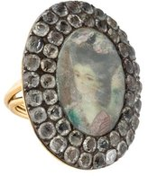 Lydia Courteille Crystal Portrait Ring