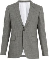 Calvin Klein Single-breasted hound's-tooth wool jacket